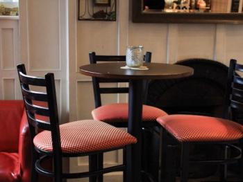 Snug bar seating, warm and cosy and friendly....