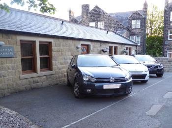 Choose our small Car Park for small cars or we give you a permit to park on a nearby road