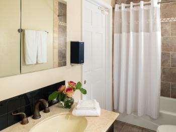 Chestnut chalets guest bathroom.