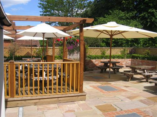 Rear courtyard and decking
