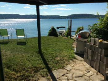 Miners Castle patio door view