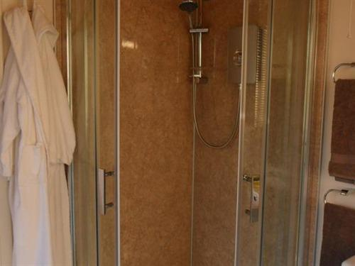 The large shower in the shower room