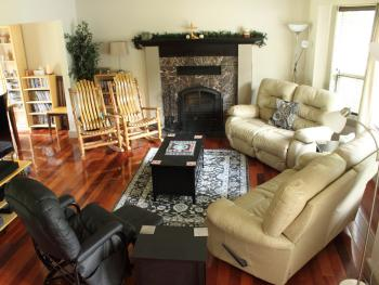 Guest Living Room - with wood burning fireplace