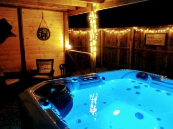 The Huntsman hot tub garden