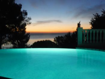 Night Pool View