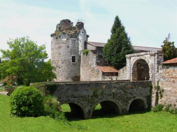 Vue tour du château et pont