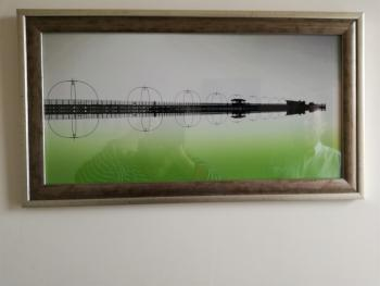 All rooms have individual art work.  We particularly love this picture of Southport Pier.