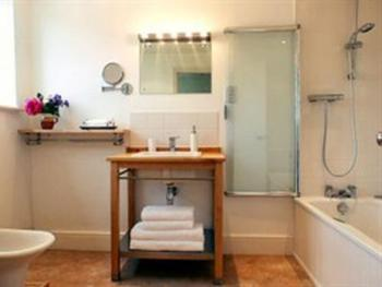 The en suite in the Gothic Room - contemporary luxury along with period charm