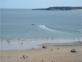Tenby with Caldey Island in the distance