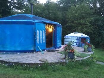 Wild Blue Yonder and Baby Blue Yurts