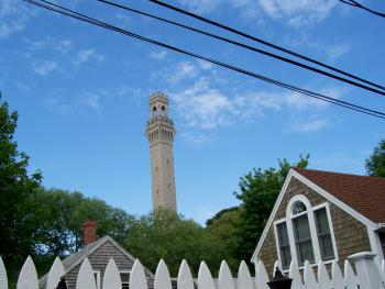 View of the Provincetown Monument from the Moffett House Inn