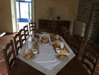 Cuisine de la maison d'hôtes - Petits-déjeuners