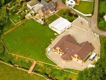 Aerial view  of Springburn  lodge