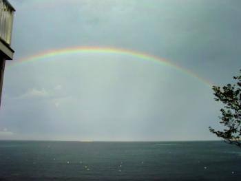 A View Of The Rainbow From The Grounds of The Inn