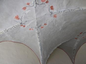 Restauriertes Kreuzgewölbe aus dem frühen 17. Jhd.