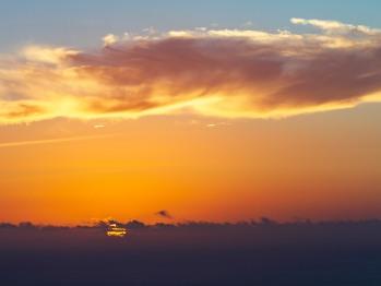Coucher de soleil sur l'océan Indien depuis la Villa Mascarine