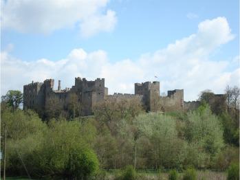Ludlow Castle is a ten minute walk away from the hotel