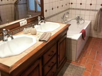 Salle de bain de la chambre Martin pêcheur