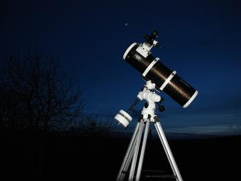 Skywatcher telescope at Dunkery Beacon Country House to view Dark Skies on Exmoor