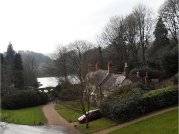 View from Inn down to Lake