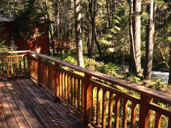 Cabin deck on Marten Creek