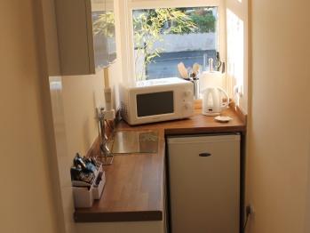 Orchid Suite fridge microwave bar