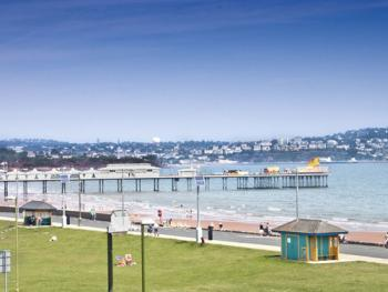 View of Paignton Pier from front of The Briars